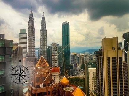 Petrona Towers in downtown Kuala Lumpur