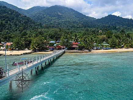 Looking at Tioman Island Malaysia