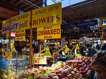 Vancouver Market with Fresh Fruit