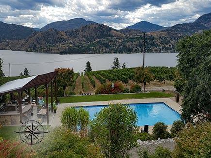 Vineyard overlooking Lake Okanagon, BC
