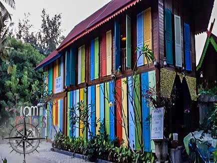 Multi-color Restaurant on Gili Islands