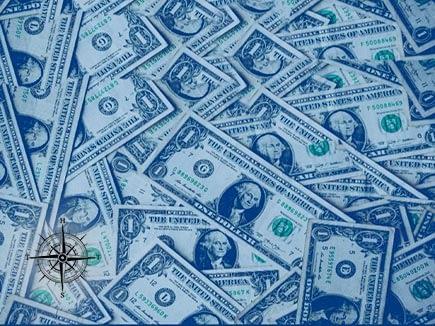A bunch of U.S $1 Bills